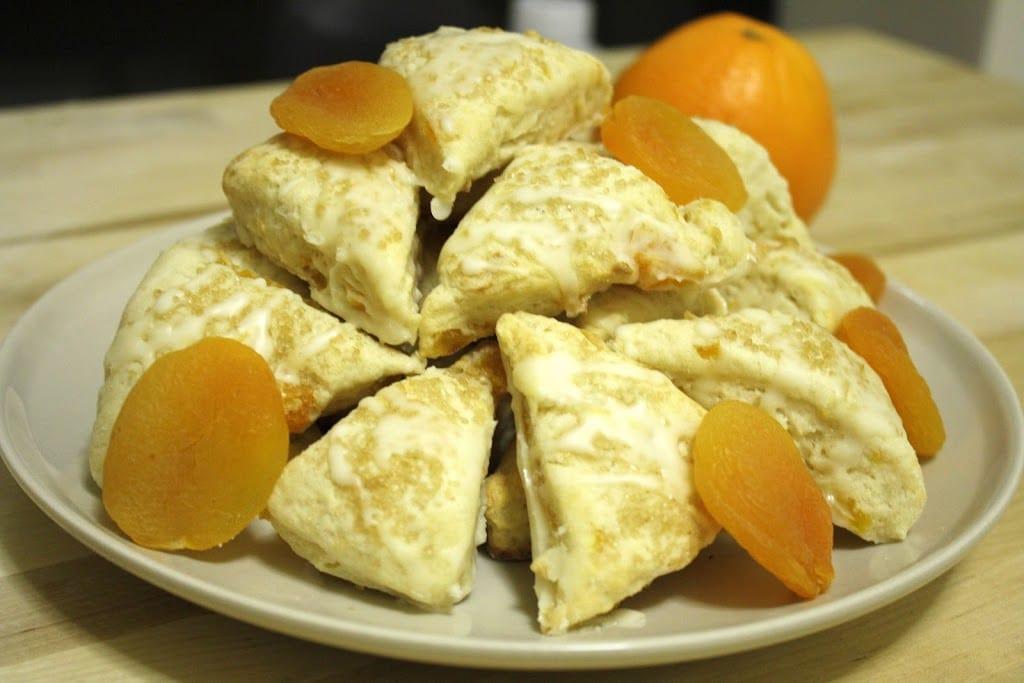 Apricot Scones with an Orange Glaze