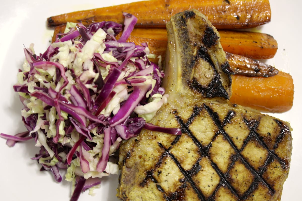 Whiskey Maple Grilled Pork Chops