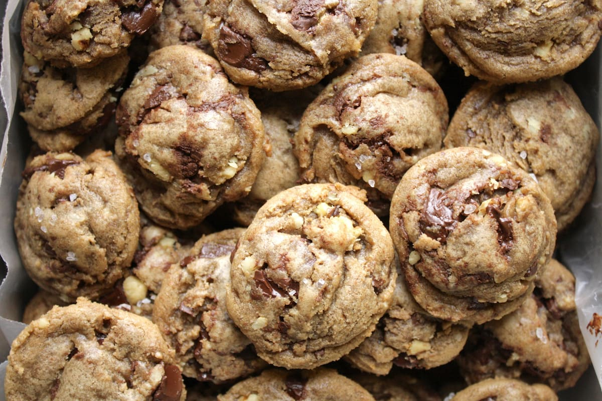 Brown Butter Salted Double Chocolate Chunk Cookies Recipe — Dishmaps