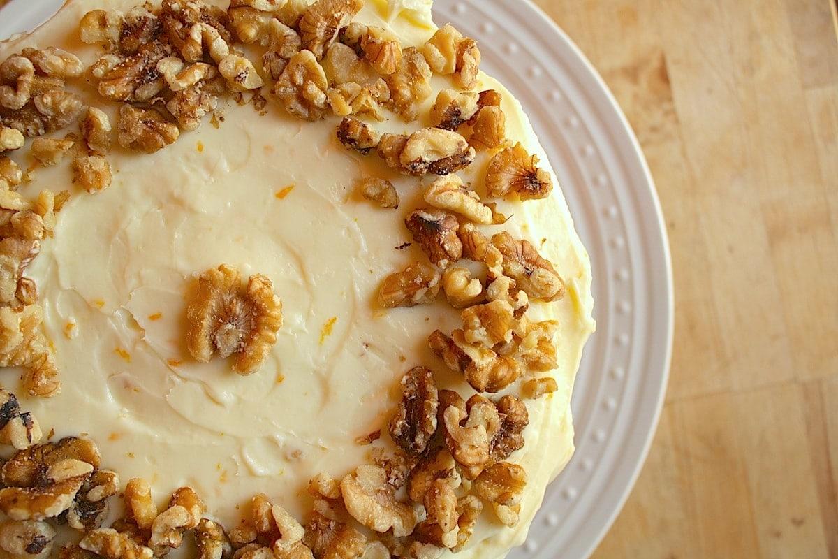 Pumpkin Cake with Walnuts