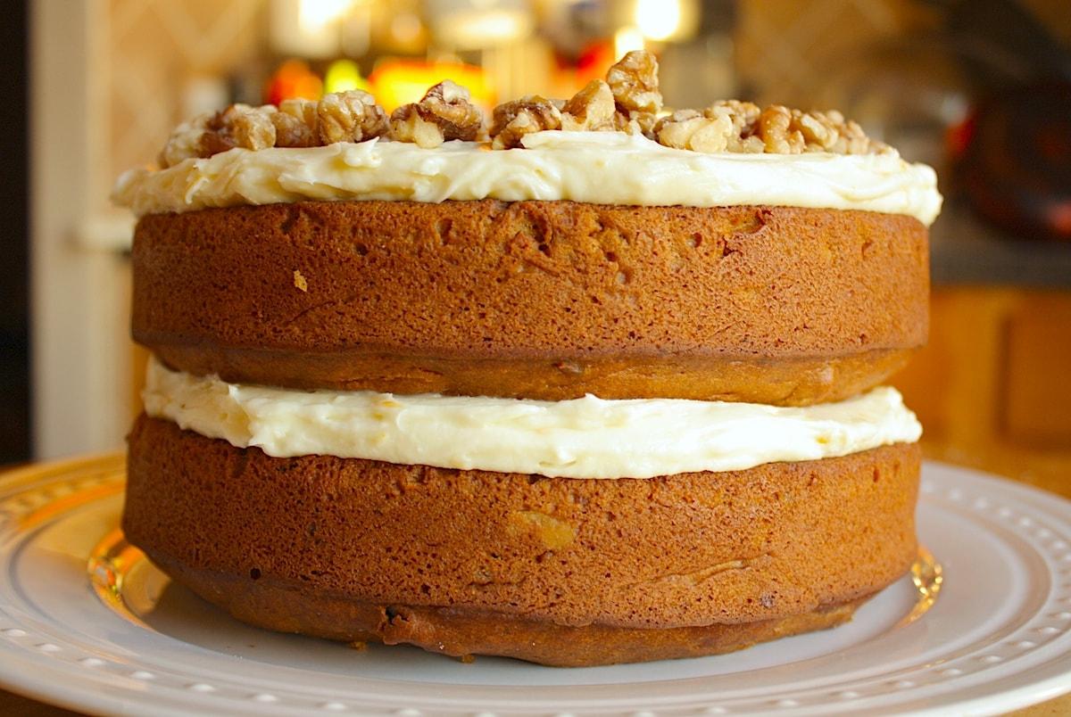 Pumpkin Cake Side View