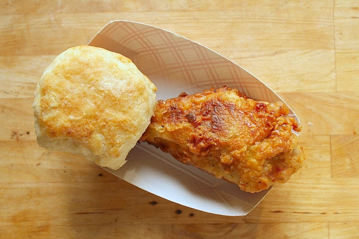 Fried Chicken and Buttermilk Biscuit