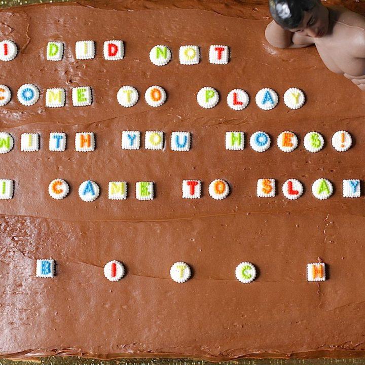 Phenomenal Chocolate Birthday Sheet Cake The Hungry Hutch Personalised Birthday Cards Veneteletsinfo