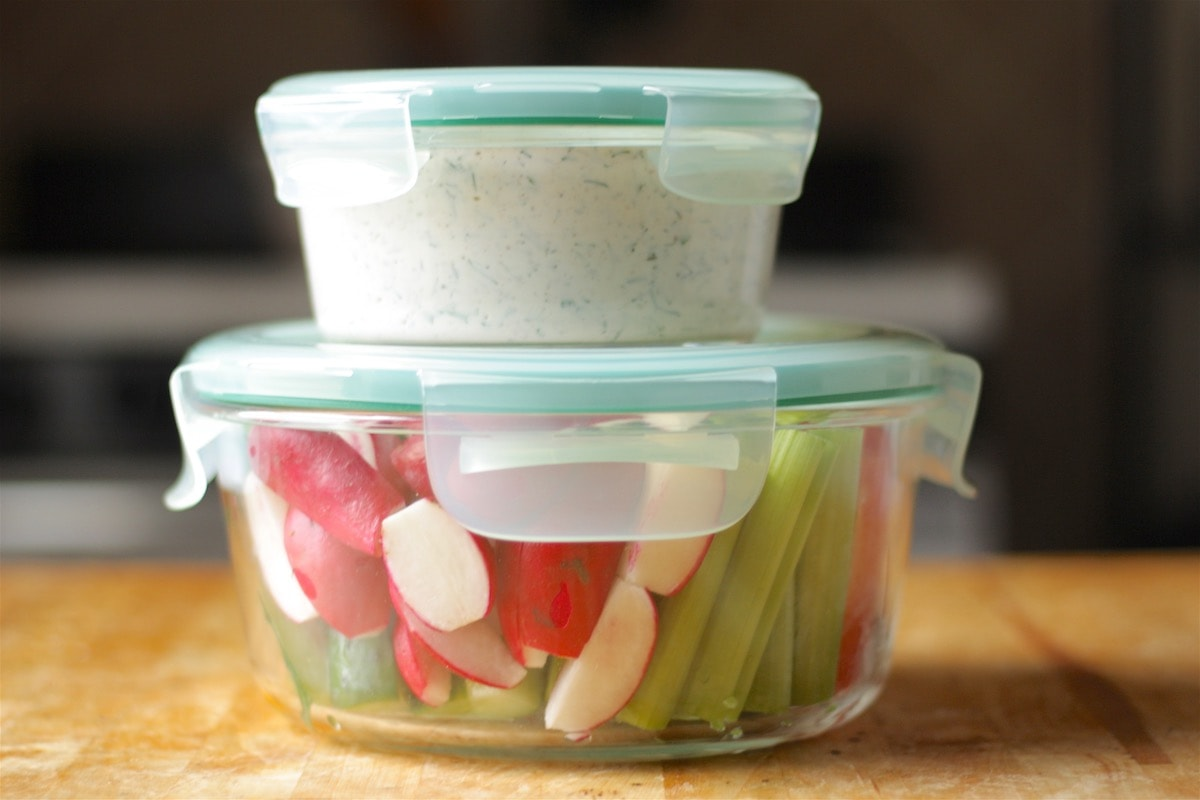 OXO Round Snap Containers Herbed Yogurt Dip
