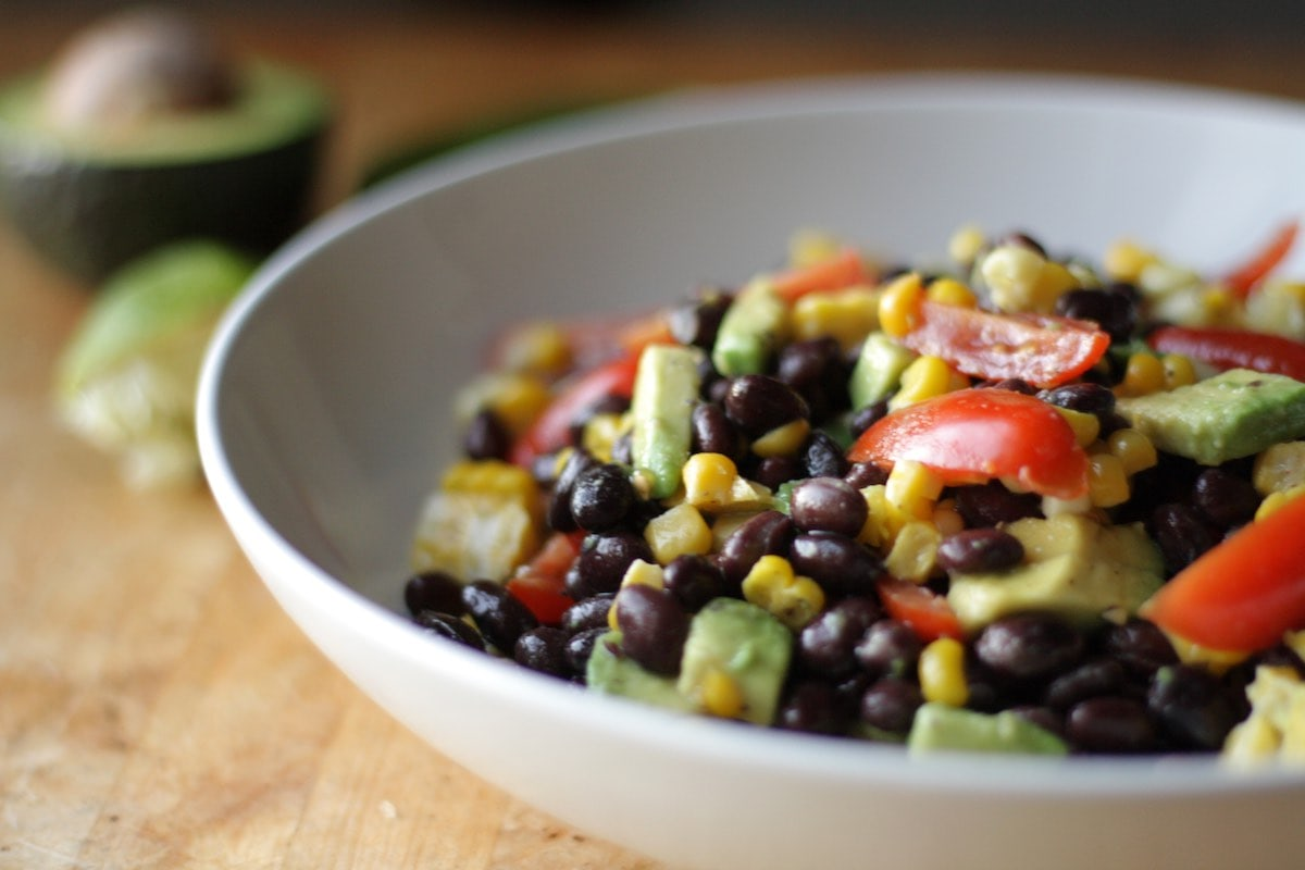 Black Bean Corn Avocado Salad Recipe | The Hungry Hutch