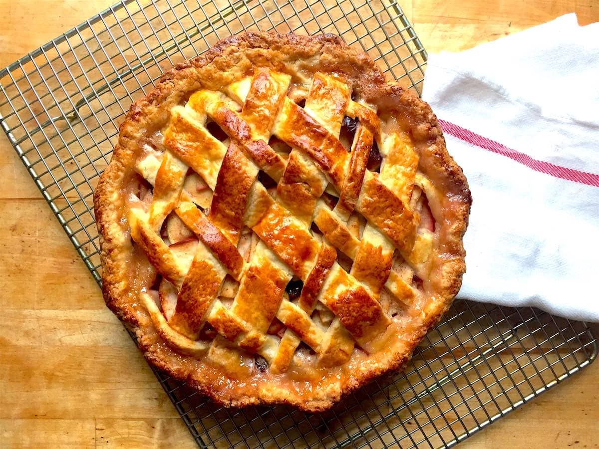 Apple Cranberry Lattice Pie