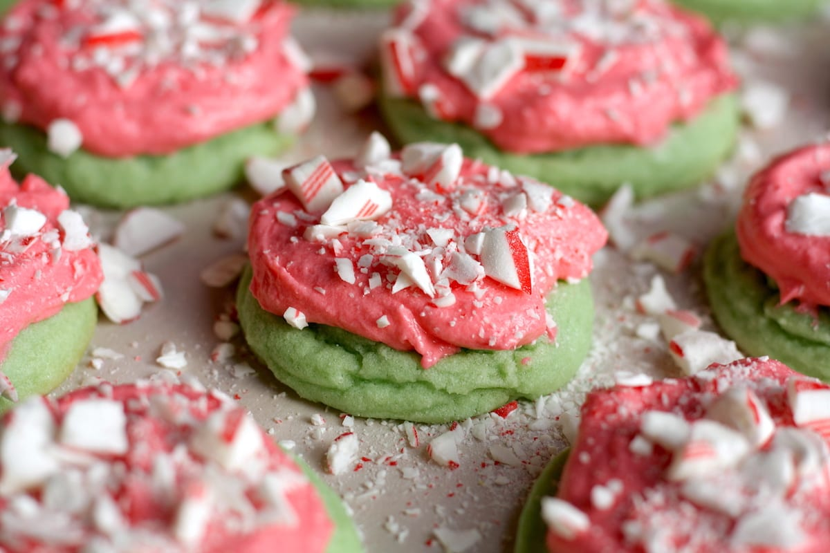 Easy Frosted Christmas Sugar Cookie Recipe