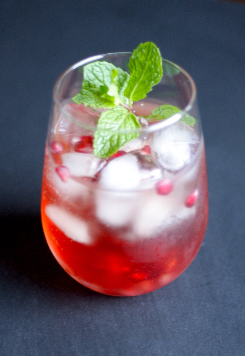 Pomegranate Mint Moscato Punch Cocktail Recipe