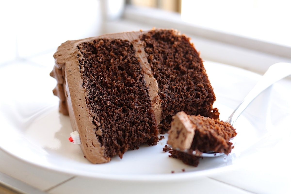 Buttermilk Chocolate Cake with Chocolate Frosting