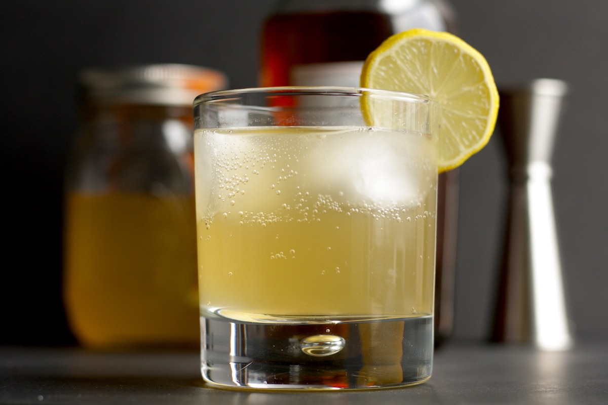Ginger Rum Fizz Cocktail Recipe
