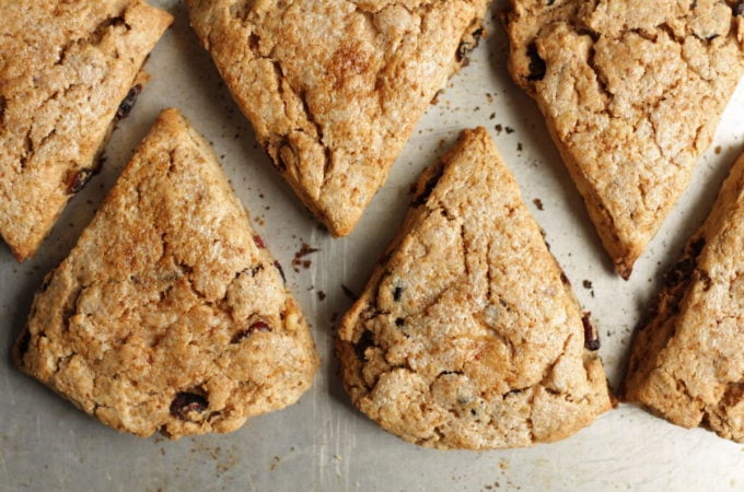 Whole-Wheat Cream Scones with Walnuts and Cranberries