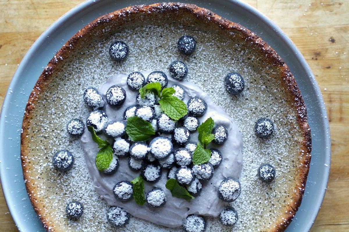 Blueberry Dutch Baby Pancake Recipe