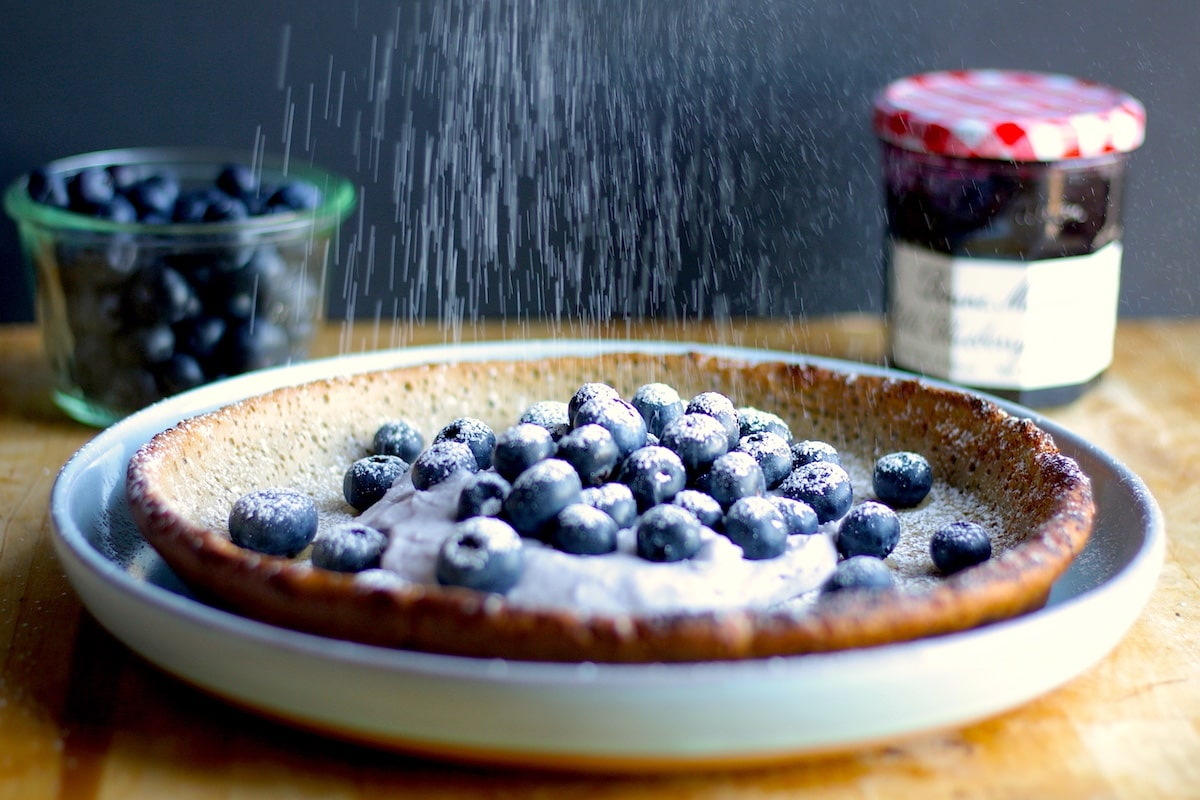 Blueberry Dutch Baby Pancake Recipe