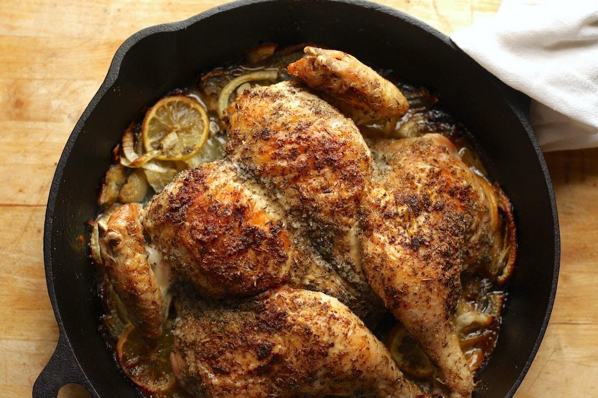 Skillet-Roasted Lemon Chicken Recipe
