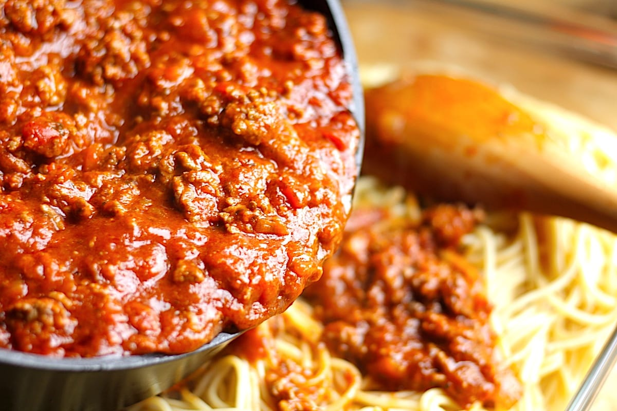 Baked Spaghetti with Meat Sauce Recipe