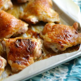 Honey Mustard Baked Chicken Thighs Recipe