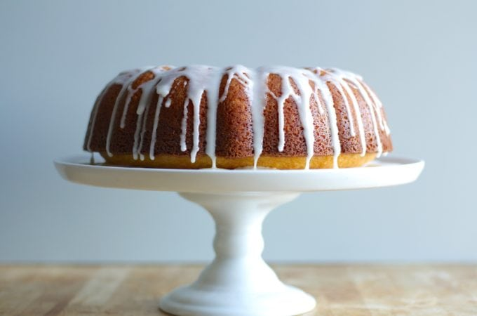 Orange Bundt Cake Recipe with Vanilla Glaze + Black History Month Virtual Potluck
