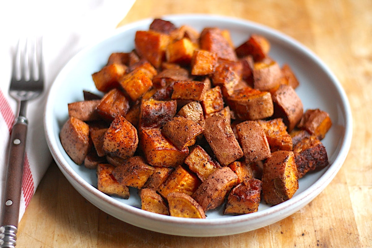 Chili-Roasted Sweet Potatoes