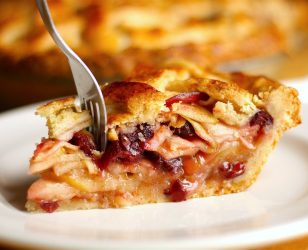 Apple Cranberry Lattice Pie
