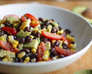Black Bean Corn Tomato Avocado Salad