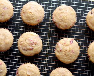 Cranberry Sauce Corn Muffins