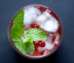 Pomegranate & Mint Moscato Punch Cocktail Recipe